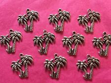 Tibetan Silver Palm Trees Charms 10 per pack - holiday themes