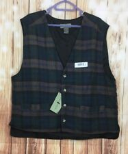 Brand New Robert Stock Men's Button Down Plaid Vest Large