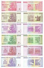 More details for zimbabwe 100 + 200 + 500 million + 1 + 5 + 10 billion dollars set 6 pcs unc