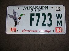 Mississippi license plate  ---conserving wildlife