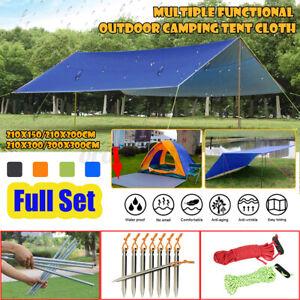 3M Tent Tarp Rain Sun Shade Hammock Shelter Waterproof Camping Picnic Pad Mat UK