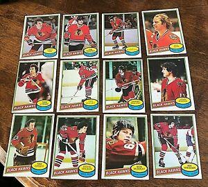 1980-81 O-Pee-Chee  CHICAGO BLACKHAWKS 20 Card team set/lot  unmarked checklist