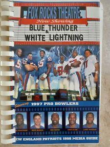 1997 NEW ENGLAND PATRIOTS NFL FOOTBALL MEDIA GUIDE PROGRAM NR MINT