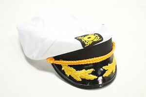 """Kangaroo Adjustable Adult Captain""""s Yacht Cap, White - Preowned"""