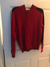 Women's -Red & Black Sweater. Size L.