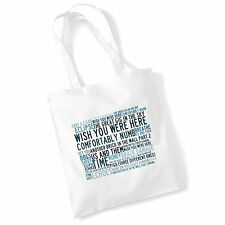 ART Studio Tote Bag Rosa FLOYD TESTI stampa ALBUM POSTER palestra spiaggia shopper regalo