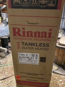 Rinnai Commercial tankless water heater natural gas