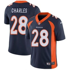 Brand New With Tags Jamaal Charles Jersey Nike Youth Small Blue Denver Broncos