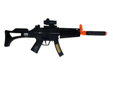 Combat Gun Toy Battery Black Operated W/ Sound And Light 29 Inches