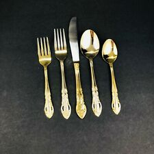 Hampton Silversmiths Versailles 24kt Gold Plated Stainless Flatware 20 piece Set
