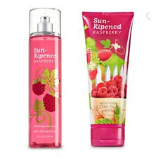 Bath and Body Works Sun Ripened Raspberry Fine Fragrance Mist and Body Cream