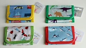 Childrens / Kids Foldover Canvas Wallets * Choice of 6 Designs