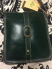 NWT Patricia Nash Italian Leather Crossbody Color: Antigreen Oil Rub Collection