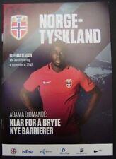 Norwegen - Deutschland 04.09.2016 Programm Länderspiel in Oslo