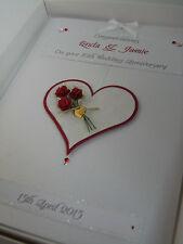 Personalised 10th Wedding Anniversary Card, Swarovski crystals, boxed
