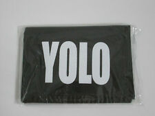 NEW Black material YOLO mens wallet 12x9cm boys accessories coin card
