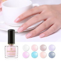 BORN PRETTY 6ml Nail Polish Pink Translucent Opal Jelly Nail Art Varnish Decor