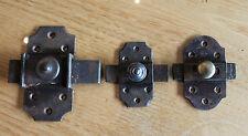3 anciennes targette ou verrou serrure clé gâches pour placard  porte n10..