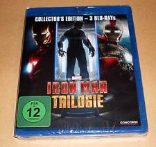 Blu Ray Box - Iron Man Trilogie - Collector's Edition Teil 1, 2, 3 - Neu OVP