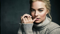 Margot Robbie Wallpaper Poster 24 x 14 inches