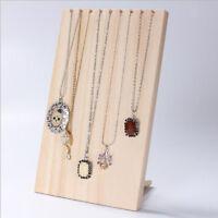Wooden Pendant Necklace Display Holder Rack Jewelry Organizer Storage Stand