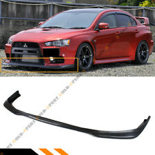 FOR 2008-2015 MITSUBISHI EVO X 10 MR RAL STYLE FRONT BUMPER LIP SPOILER SPLITTER