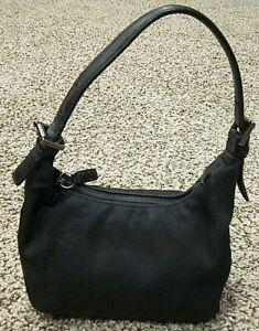 COACH Black Nylon SMALL HOBO Bag Purse