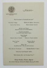 Santa Fe Railway - Dodge Brothers Dealers Special - 1924 Fred Harvey Dinner Menu
