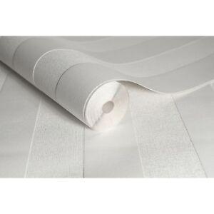 Superfresco Paintable Stripe White Textured Wallpaper