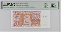 ALGERIA 20 DINARS 1983 P 133 A 15TH GEM UNC PMG 65 EPQ