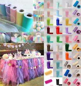 "UK 6""X25 yards Tulle Spool Roll Wedding Bridal Party Favor Decoration Tutu Craft"
