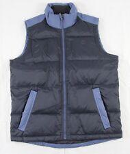Timberland Blue & Black Full Zip Nylon 126G Down Filled Vest Size S BNWT