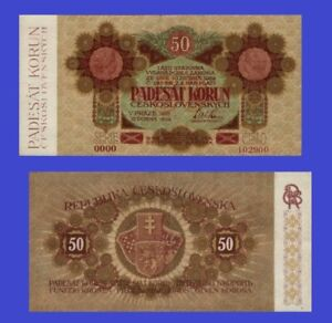 Czechoslovakia 50 KORUN 1919 UNC - Reproduction