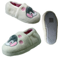 BOYS NAVY BLUE LION SLIPPERS RUBBER  SOLES SIZE 11-5