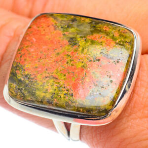 Huge Unakite 925 Sterling Silver Ring Size 8.75 Ana Co Jewelry R72130F