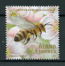 Aland 2018 MNH Beekeeping Bees 1v Set Flowers Insects Stamps