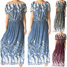 Women Summer Off The Shoulder Long Maxi Dress Evening Party Boho Beach Sundress