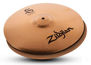 "New Zildjian S Family Rock 14"" HiHats Pair S14RPR Cymbals Hi Hats"