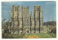 Wells Cathedral, Somerset postcard 1963