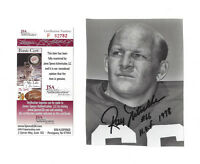 PACKERS Ray Nitschke signed 4x6 photo w/ HOF 1978 & #66 JSA COA AUTO autographed