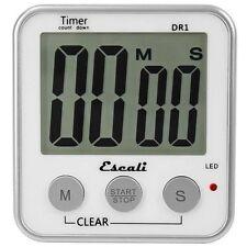 Escali Digital Timer Extra Large LED Display12/24 Hour Clock Mode Recall #DR1
