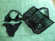 *NEUF* sac de plage / shopping noir +Maillot De Bain 3 suisses noir 2 Pièces T36