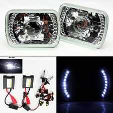 """7X6"""" 6000K HID Xenon Clear Projector LED DRL Glass Headlight Conversion TOYOTA"""