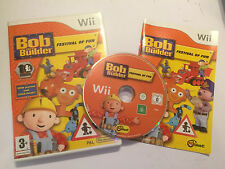 ORIGINAL NINTENDO Wii GAME BOB THE BUILDER FESTIVAL OF FUN COMPLETE PAL