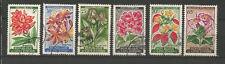 fleurs Côte-d'Ivoire 1961-62 6 timbres oblitérés / T4790
