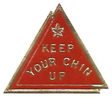 WWII die cut label - Keep Your Chin Up