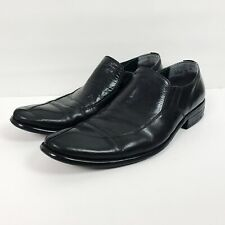 Via Spiga Studio Men's Loafers Size 11 Black Leather Slip-On Dress Shoes