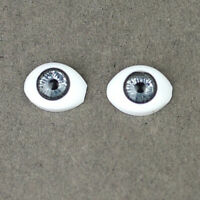 Doll Making Supplies 1/4 BJD SD Safety Eyes 14mm - Silver Iris Black Pupil
