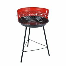 New Portable Charcoal BBQ 36cm Round Grill Barbecue Garden Party Picnic Camping
