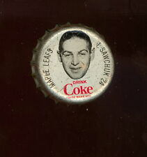 1964 65 COCA-COLA COKE BOTTLE CAP WITH CORK TERRY SAWCHUK TORONTO MAPLE LEAFS